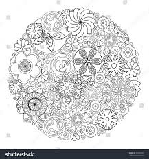 flower design for coloring book for grown up an coloring book fl drawing for