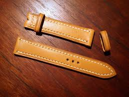 this strap is lined but unpadded as per my request leather
