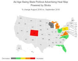 Tv And Cold Maps — States Up Gone Spending Where Has Political Swing Ad Heated The