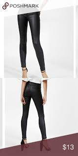 express faux leather leggings never worn black faux leather leggings express pants leggings