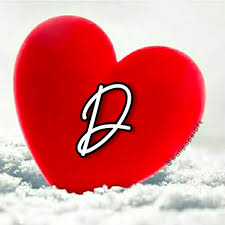Love heart Red Alphabet Wallpaper Dp ...