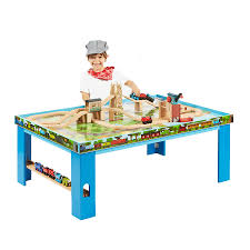 view larger thomas friends wooden railway table with playboard