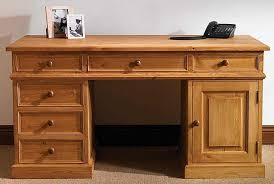 pine office desk. TFW Mottisfont Waxed Pine Desk - Double Pedestal 1 Door 6 Drawers Office E