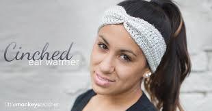 Ear Warmer Crochet Pattern Enchanting Cinched Ear Warmer Headband Pattern Little Monkeys Crochet