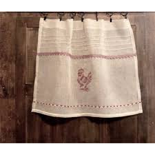 Rooster Kitchen Curtains Monogram Linen Curtains Napkins French Style