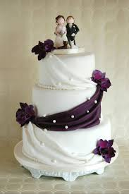 Simple Elegant Wedding Cake Lilac Orchids Cakecentralcom