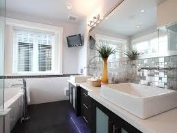 backsplash bathroom ideas. This Bathroom Backsplash Is Neatly Framed By The Counter And Extra Long Wall Mirror Ideas