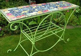 table recycled materials. An Upcycled Garden Table With A Mosaic Top. It Sold For £395. Www Recycled Materials