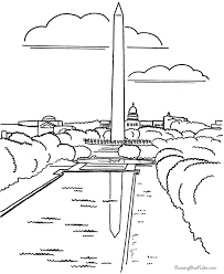 Small Picture Washington Monument coloring page 022