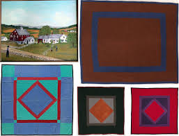 The History of The American Quilt: Amish Quilts - Pattern Observer & images via: Amish Farm August 1969, in the collection of Kathy Hogarth  Charles, Old order Amish centre square quilt, Amish quilt, Lancaster  county, ... Adamdwight.com