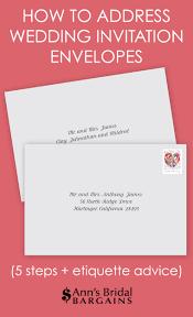 how to address wedding invitation envelopes ann's bridal bargains Wedding Invitation Address Protocol how to address wedding invitation envelopes Wedding Invitation Etiquette