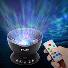 Ocean Wave Projector Night Light Wholesale Remote Control Ocean Wave Projector 12 Led 7 Colors Night Light With Built In Mini Music Player For Living Room And Bedroom