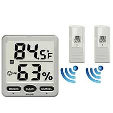ts ws 07 x2 8 channel wireless weather station indoor outdoor thermometer hygrometer console 2pcs sensor banggood com imall com