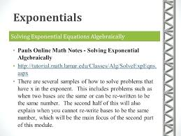 solve exponential equations algebraically math solving exponential equations algebraically mathxlforschool access code