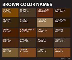 Umber Color Chart List Of Colors With Color Names Graf1x Com