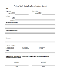 Injury Incident Report Template Best Employee Incident Report Pdf Charlotte Clergy Coalition