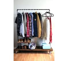 target clothing storage wardrobe racks clothing racks garment rack target rolling industrial clothes stand with wooden
