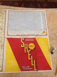 Vintage Shell Oil Road Map 1930s United States Pennsylvania Ebay