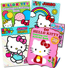 Did you know that hello kitty was born in 1974? Amazon Com Hello Kitty Coloring Activity Book Super Set 5 Hello Kitty Coloring Books Crayons And Over 50 Hello Kitty Stickers Hello Kitty Party Pack Toys Games