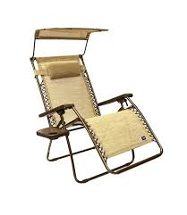 com bliss hammocks wide gravity free lounger chair with pillow and canopy and side tray sand patio recliners garden outdoor