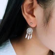 Dream Catcher Earing Sterling Silver Dreamcatcher Earrings 93