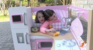Pink Step 2 Kitchen Kidkraft Grand Gourmet Corner Kids Toy Kitchen Unboxingreview