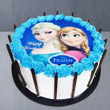 Send Happy Birthday Frozen Princess Photo Cake For Girls Online By