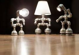 unique lighting fixtures for home. Unique Lighting Fixtures Handmade Robots Bulbs- Add More Ambiance To Interior For Home G