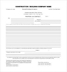 Job Bid Proposal Template