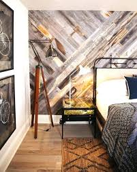 pallet accent wall wooden