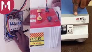 how to connect an inverter at your home with battery backup youtube Solar Inverter 3 Phase Connections Diagrams at Inverter Wiring Diagram For Home