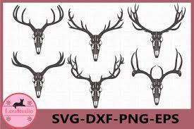 Looking for elk psd free or illustration? Deer Antler Skull Svg Deer Skull Svg Antler Svg Files 869226 Cut Files Design Bundles