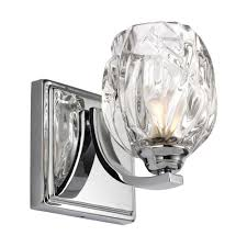 Single Light Fixture For Bathroom Kalli Single Bathroom Wall Light In Chrome With Glass Shade