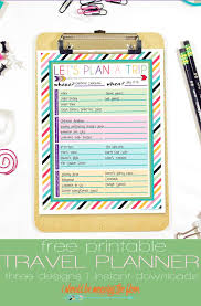 Free Travel Planner I Should Be Mopping The Floor Free Printable Trip Planner