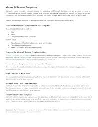 Resume Template In Microsoft Word – Mycola.info