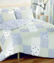 Patchwork Check Checked Blue Green Double Bed Duvet Cover Quilt ... & Picture 2 of 2 Adamdwight.com