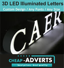 3d led sign letters 30cm all fonts custom designs shapes free artwork ebay