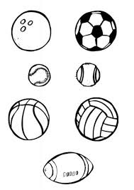 The children around the world coloring page (s) requires no prep! Coloring Page Ball Sports Img 10386 Sports Coloring Pages Printable Sports Coloring Pages For Kids