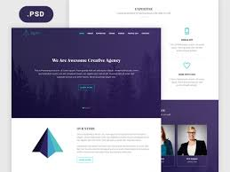 Free Psd Website Templates Mesmerizing Tajam PSD Website Template For Agencies Freebiesbug