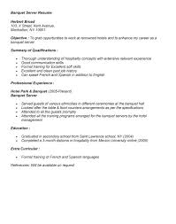 Gallery Of Banquet Server Resume Example For Job Application Banquet