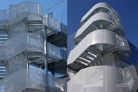 Progettazione Scale Antincendio : Scala di sicurezza esterna architettura