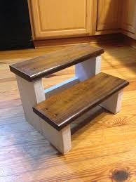 Decorative Step Stools Kitchen Rustic Wood Farm House Step Stool Kids Step Stool Childs Foot