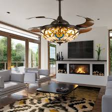 ceiling fans with lights for living room. Brown Crystal Ceiling Fan Chandelier Light Living Room Fans With Lights For