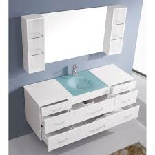 single white bathroom vanities. Abodo 63 Inch Wall Mounted Single White Bathroom Vanity Cabinet Pertaining To Proportions 1000 X Vanities I