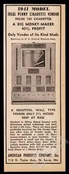 Ebay Cigarette Vending Machine Extraordinary 48 Ideal Penny Cigarette Vendor Vending Machine Photo Vintage