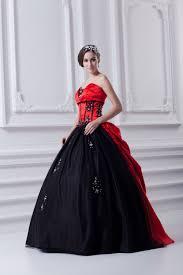 Schwarz Rot Brautkleider Quinceanera Kleider Günstig Prinzessin ...