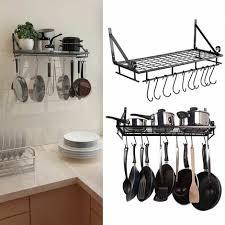 kitchen cookware organiser rack wall