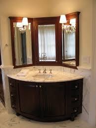 Corner Mirror Bathroom Cabinet With Regard To Vanity Designs 12