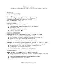 Culinary Cover Letter Line Cook Resume Cover Letter Examples For Cooks Culinary Lead L