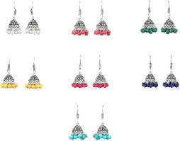 Buy mystigo Multicolor Stylish Oxidised Silver-Plated ... - Flipkart.com